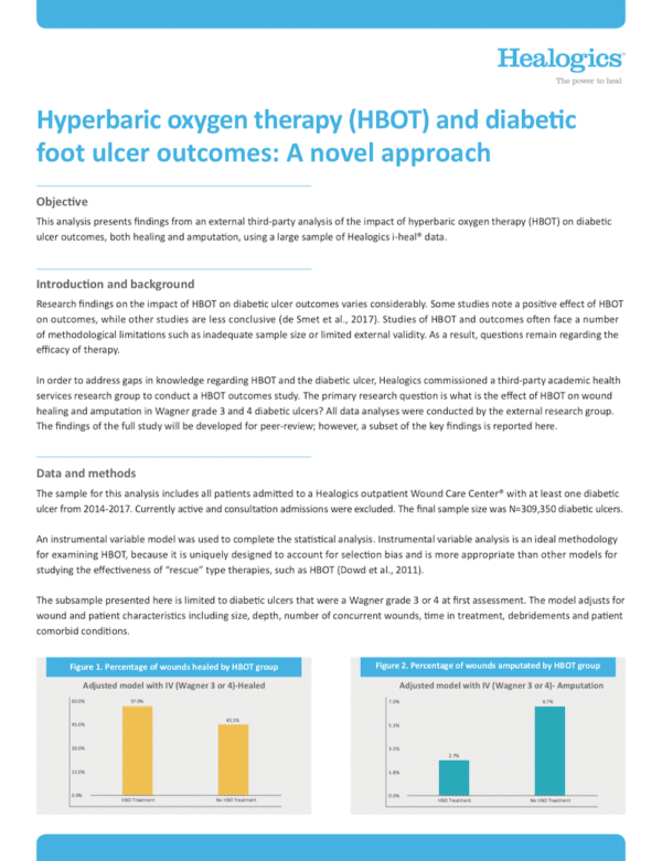 Download Hyperbaric oxygen therapy (HBOT) and diabetic foot ulcer outcomes: A novel approach