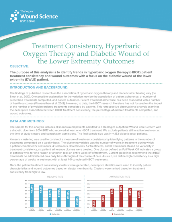 Treatment Consistency, Hyperbaric Oxygen Therapy and Diabetic Wound of the Lower Extremity Outcomes